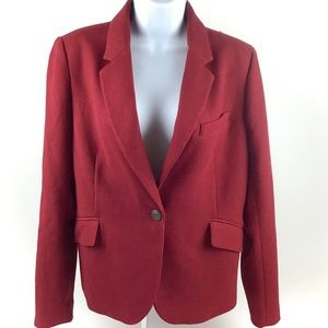 Dalia Red Textured Stretch Blazer LG